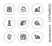 mass icon set. collection of 9...   Shutterstock .eps vector #1197648232