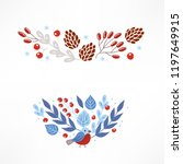 christmas compositions with... | Shutterstock .eps vector #1197649915