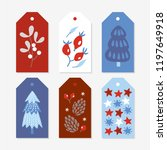 christmas gift tags with... | Shutterstock .eps vector #1197649918