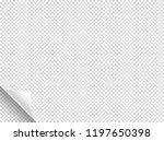 bending paper vector mockup....   Shutterstock .eps vector #1197650398