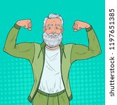 pop art portrait of mature... | Shutterstock .eps vector #1197651385