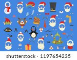 big christmas party props for... | Shutterstock .eps vector #1197654235