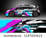 car wrap design vector. graphic ... | Shutterstock .eps vector #1197655615