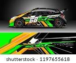 car wrap design vector. graphic ... | Shutterstock .eps vector #1197655618