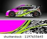 car wrap design vector. graphic ... | Shutterstock .eps vector #1197655645