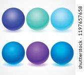 set of multicolored spheres... | Shutterstock .eps vector #1197657658