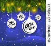 blue christmas sale banner.... | Shutterstock .eps vector #1197658195