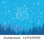 vector winter banner in blue... | Shutterstock .eps vector #1197659305