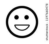 smile vector icon | Shutterstock .eps vector #1197660478