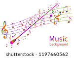 colorful music background.... | Shutterstock .eps vector #1197660562