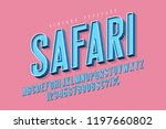 condensed 3d display font... | Shutterstock .eps vector #1197660802