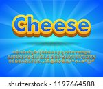 floating cheese 3d font effect... | Shutterstock .eps vector #1197664588