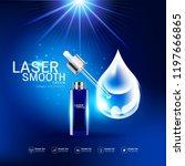 collagen and vitamins on laser...   Shutterstock .eps vector #1197666865