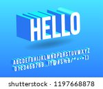 blue modern and simple alphabet ... | Shutterstock .eps vector #1197668878