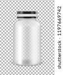 vector transparent plastic jar. | Shutterstock .eps vector #1197669742