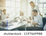 business people working... | Shutterstock . vector #1197669988
