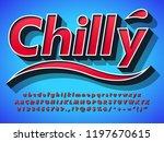 realistic 3d alphabet type font ... | Shutterstock .eps vector #1197670615