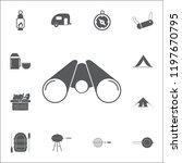 illustration of binoculars icon....