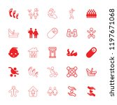 family icon. collection of 25... | Shutterstock .eps vector #1197671068