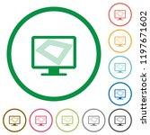 screen saver on monitor flat... | Shutterstock .eps vector #1197671602