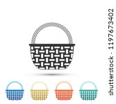wicker basket icon isolated on... | Shutterstock .eps vector #1197673402