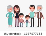 cute families isolated vector...   Shutterstock .eps vector #1197677155