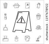 wet floor icon. set of cleaning ... | Shutterstock . vector #1197678922