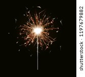 bengal fire. new year sparkler... | Shutterstock .eps vector #1197679882