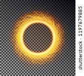 Fiery Sparks Circle Effect...
