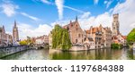 panoramic city view with belfry ... | Shutterstock . vector #1197684388