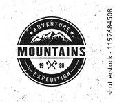 mountains black vector round... | Shutterstock .eps vector #1197684508