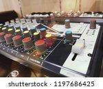 professional audio mixer  sound ...   Shutterstock . vector #1197686425