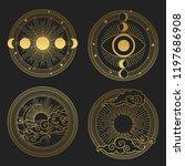set of decorative design... | Shutterstock .eps vector #1197686908