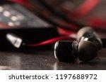 earphone  music  earphone with... | Shutterstock . vector #1197688972