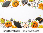 halloween gingerbread cookies   ... | Shutterstock . vector #1197696625