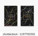 gold  black  white marble... | Shutterstock .eps vector #1197702532