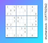 vector sudoku. puzzle game with ... | Shutterstock .eps vector #1197702562