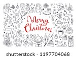 big set of christmas design... | Shutterstock .eps vector #1197704068