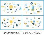 startup concept. business... | Shutterstock .eps vector #1197707122