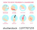 how to give yourself manicure... | Shutterstock .eps vector #1197707155