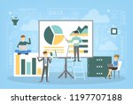 business data analysis and... | Shutterstock .eps vector #1197707188