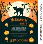 halloween party invitations or... | Shutterstock .eps vector #1197709642