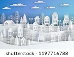 winter snow urban countryside... | Shutterstock .eps vector #1197716788