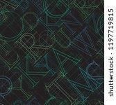 font seamless pattern on a... | Shutterstock . vector #1197719815