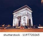 arc de triomphe du carrousel ... | Shutterstock . vector #1197720265