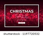 christmas sale design with red... | Shutterstock .eps vector #1197720532