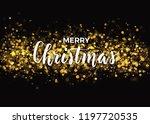 dark christams design with gold ... | Shutterstock .eps vector #1197720535