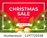 christmas sale design with pine ... | Shutterstock .eps vector #1197720538