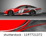 car wrap design vector. graphic ... | Shutterstock .eps vector #1197721372