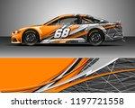 car wrap design vector. graphic ... | Shutterstock .eps vector #1197721558